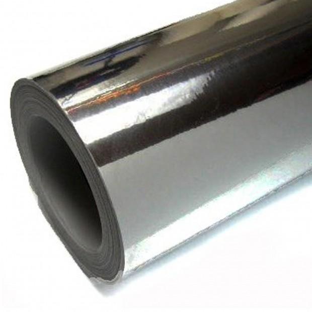 Vinyl Chrom schwarz 25x152 cm