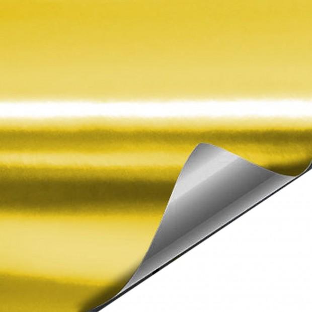 Vinilo Cromado Oro 25x152 cm