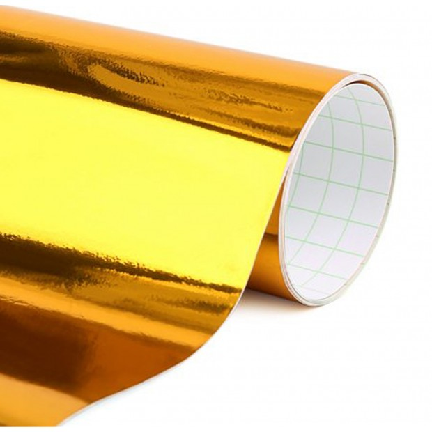 Vinyle Chrome Or 25x152 cm