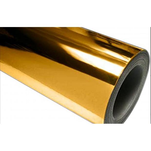 Vinil Cromado Ouro 25x152 cm