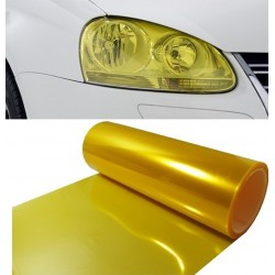Vinyl headlights and pilots yellow retro effect 100x30 cm