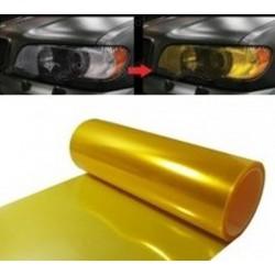 Vinil de faróis e pilotos amarelo efeito retro 50x30cm
