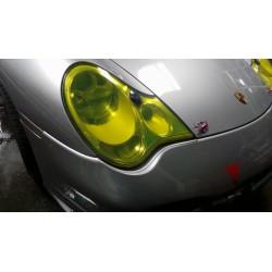 Vinil de faróis e pilotos amarelo efeito retro 100x30 cm
