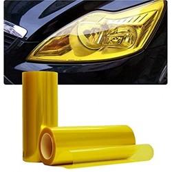 Vinyl headlights and pilots yellow retro effect 100x30 cm