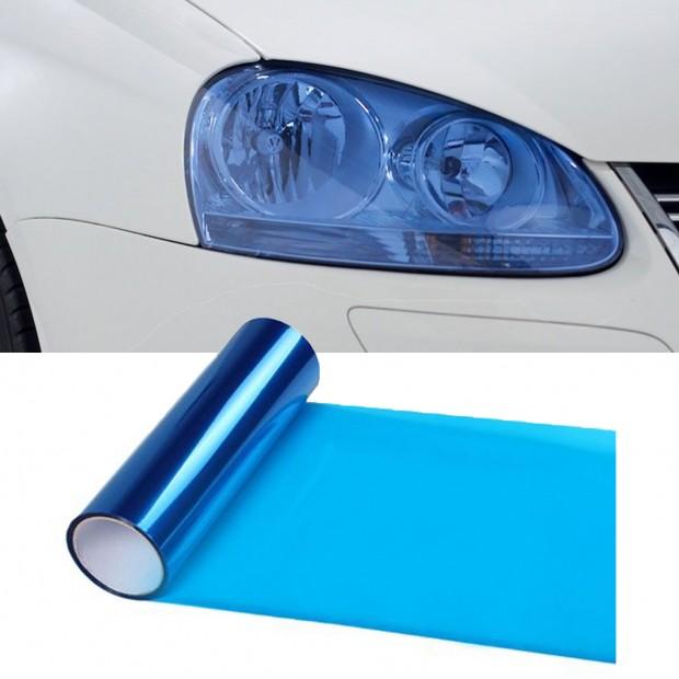 Vinyl headlights and pilots blue 50x30 cm