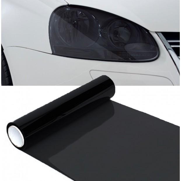 Vinyl headlights and pilots black 70%, 100x30 cm