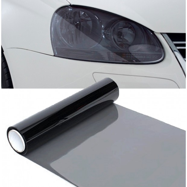 Vinyl headlights and pilots black 20%, 100x30 cm