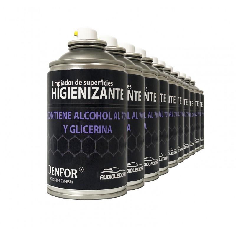 Kit 10 sprays Higienizantes auf der basis von alkohol 250 ml