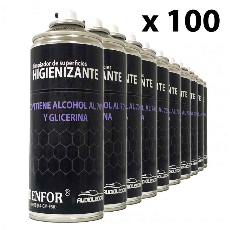 Kit 100 sprays Higienizantes auf basis alkohol, 400 ml