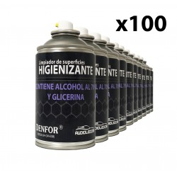 Kit 100 sprays Sanitizers alcohol-based 250 ml