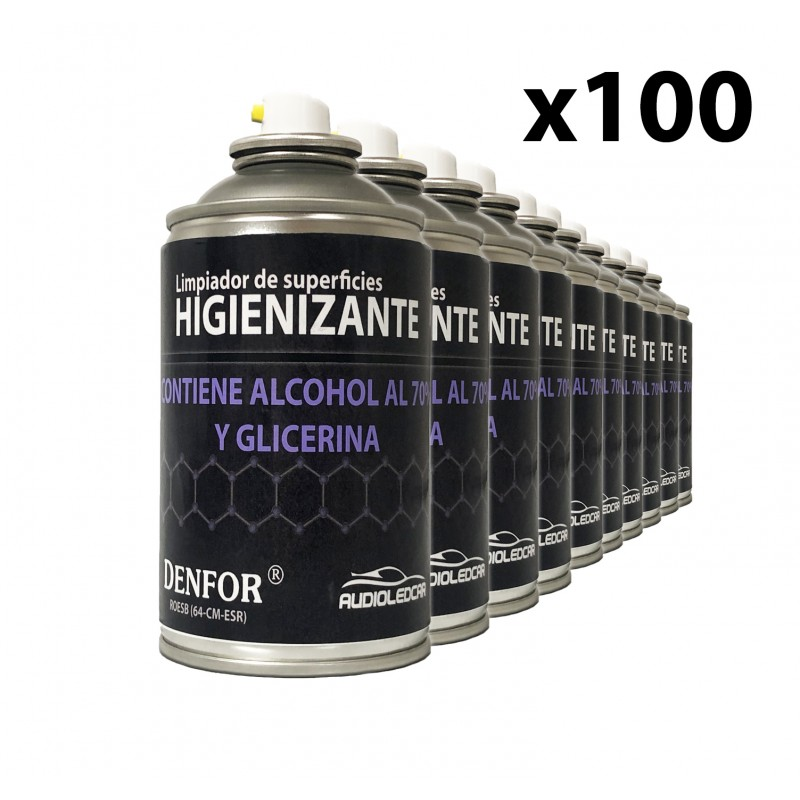 Kit de 100 sprays Désinfectants à base d'alcool 250 ml