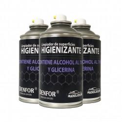 Kit 3 sprays Higienizantes auf der basis von alkohol 250 ml