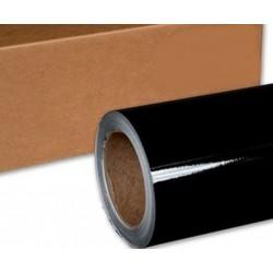 Vinyl Schwarz Glanz 75x152cm