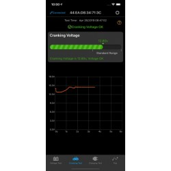 Testeur de piles en utilisant une Application mobile