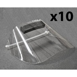 Kit 10 visors high quality protective - DGA®