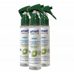 Kit 3 sprays de limpeza de mãos 78% de álcool - Amalfi®