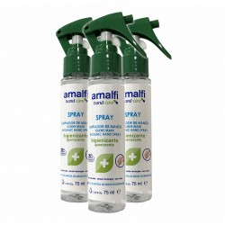 Kit de 3 sprays nettoyants à mains 78% d'alcool - Amalfi®