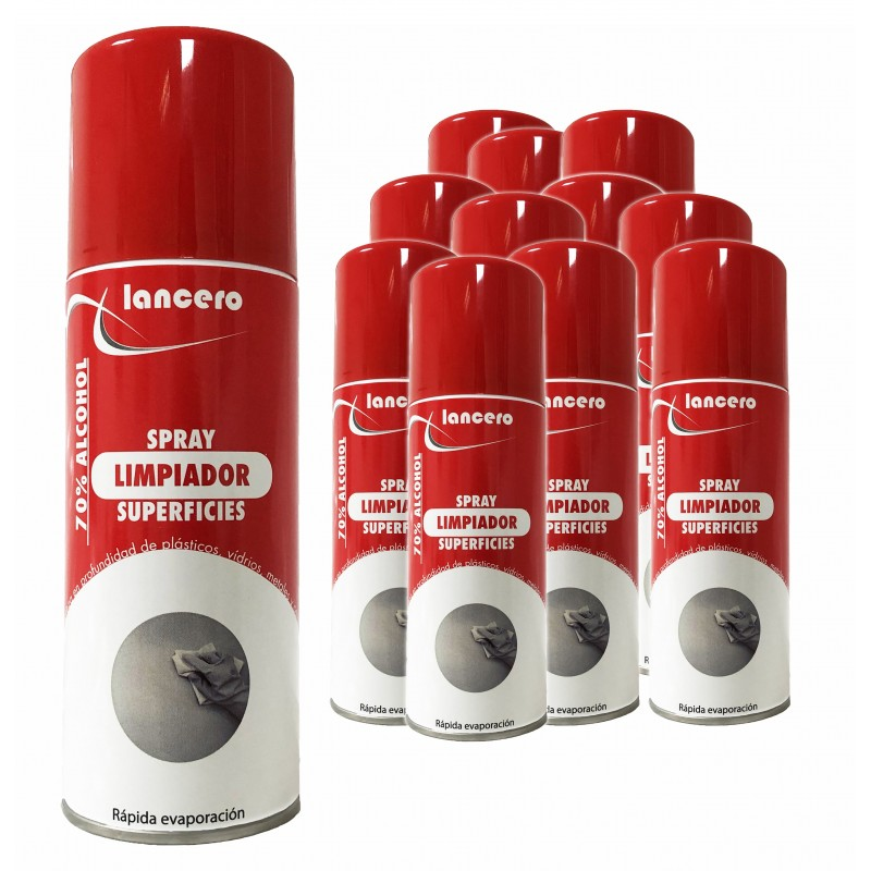 Kit 12 sprays, sanitizers, industrial and domestic 70% alcohol - Spearman®
