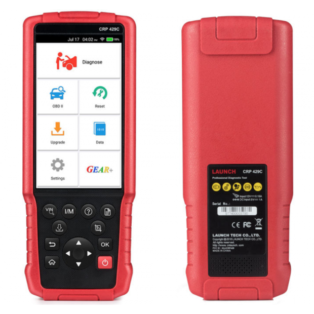 Machine diagnosis LAUNCH X431 CRP429C, Engine/ABS/SRS/AT + 11 systems more - Version 2020/2021