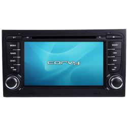 "Navegador GPS Audi A4 B6 (2000-2006), Wince 7"" com DVD - Corvy®"