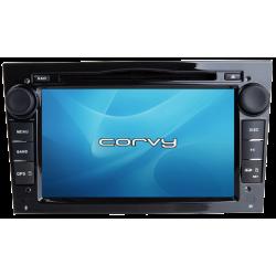 """Navegador GPS Opel Agila, acabamento preto (2006-2011), Wince 7"""" com DVD - Corvy®"""