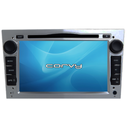 """Navegador GPS Opel Combo, acabamento cinza (2001-2011), Wince 7"""" com DVD - Corvy®"""
