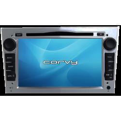 """Navegador GPS Opel Corsa C, acabamento cinza (2000-2006), Wince 7"""" com DVD - Corvy®"""