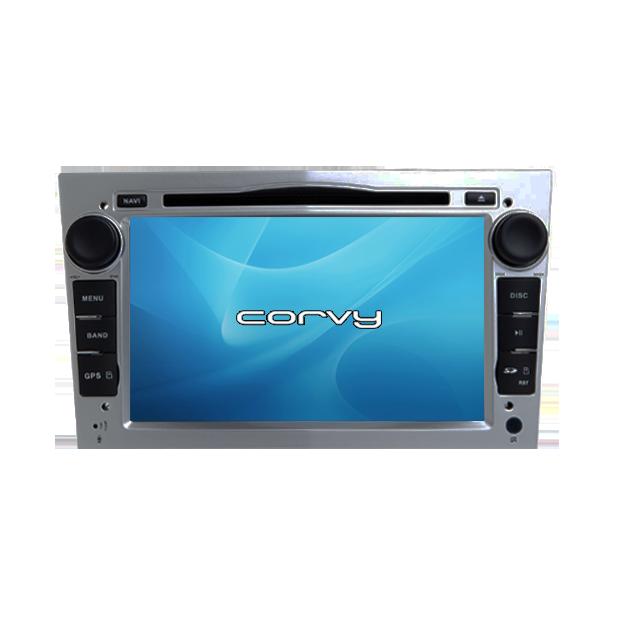 """Navegador GPS Opel Tigra B, acabamento cinza (2004-2009), Wince 7"""" com DVD - Corvy®"""