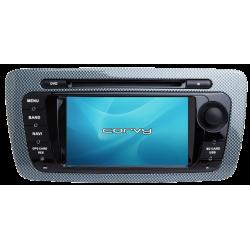 """Navegador GPS Seat Ibiza 6J (2008-2013), Wince 7"""" com DVD - Corvy®"""