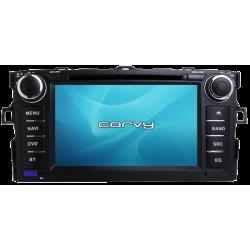 "GPS-navigator, Toyota Corolla 10, 140/150-Serie (2009-2013), Android 7"" - Corvy®"