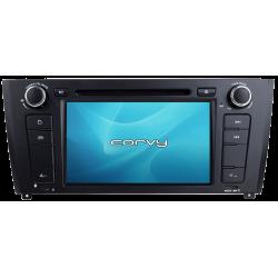 """Navegador GPS BMW Série 1, E81 E82 E87 E88 (2004-2011), Android 7"""" com DVD - Corvy®"""