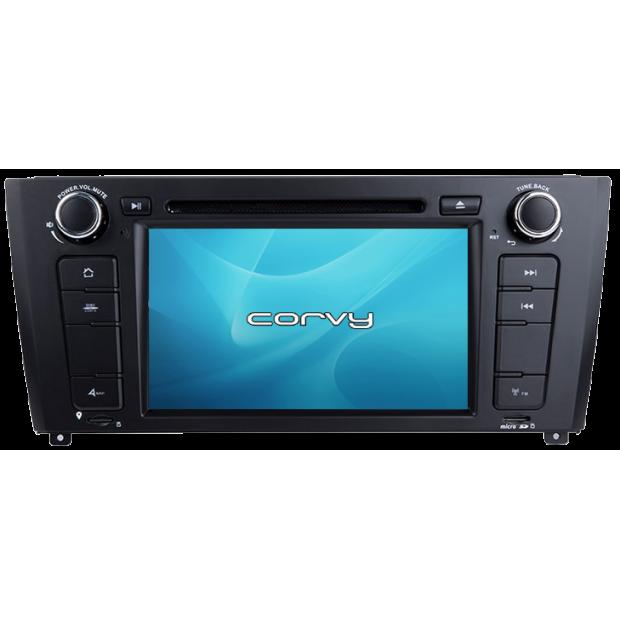 """Navigateur GPS BMW Série 1, E81 E82 E87 E88 (2004 À 2011), Android 7"""" avec lecteur DVD - Corvy®"""