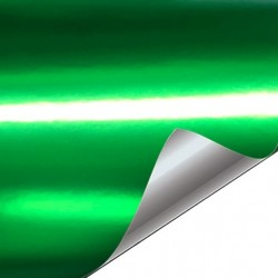 Green vinyl chrome plated...