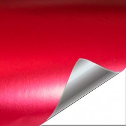 Red vinyl chrome-plated...