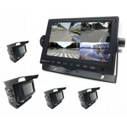 """Kit de 4 Caméras de surveillance Wifi + Écran 7"""" (vue à 360°)"""