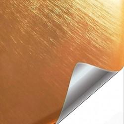 Vinyl Gold chrome brushed...