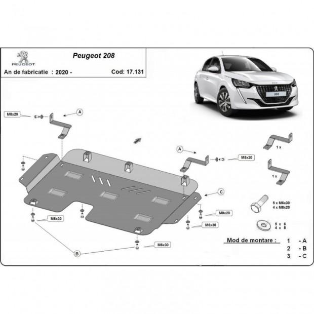 Deckt carter cash Peugeot 208 (2020-2021)