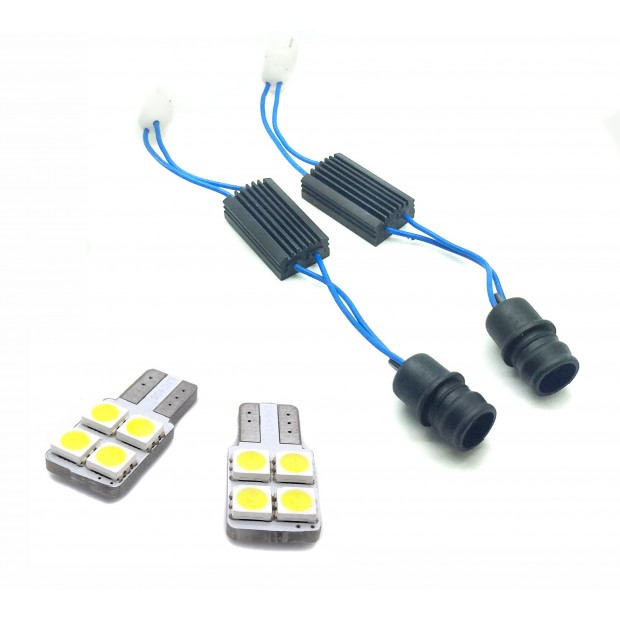 Bulbs and canceladores of tuition LED for Volkswagen Golf 6 (2008-2012)