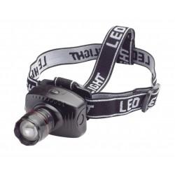 Linterna LED cabeza + zoom