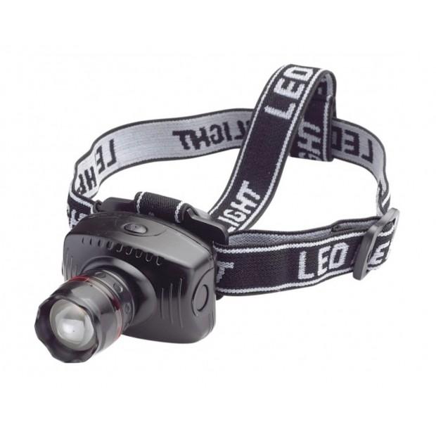 Lanterna LED cabeça + zoom