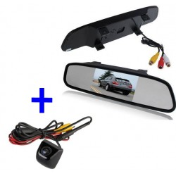 Kit Pantalla-Retrovisor + Camara a todo color