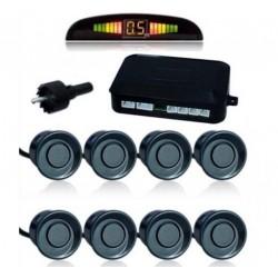 Eight parking sensors