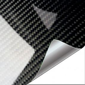Feuille de Vinyle Carbone Noir Brillant PREMIUM pour Voiture et Moto