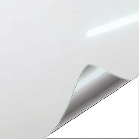Aufkleber aus Vinyl, Weiß Glanz für Auto und Motorrad