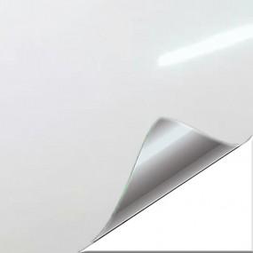 Autocollant en Vinyle Blanc Brillant pour Voiture et Moto