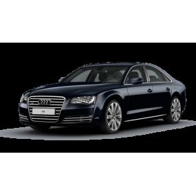Fußmatten nach maß: Audi A8 Velour und Gummi