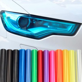 Vinyls Translucent for the Headlights and Drivers Car