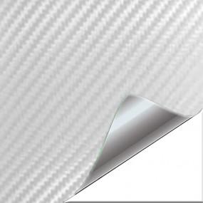 Aufkleber Vinyl-Carbon Weiß 3D für Auto und Motorrad