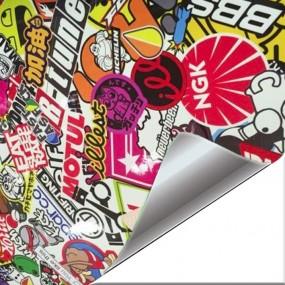 Sticker Vinyl Hellaflush BBS Brightness for Car and Bike
