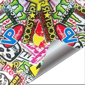 Sticker Vinyl Hellaflush Rockstar for Car and Bike